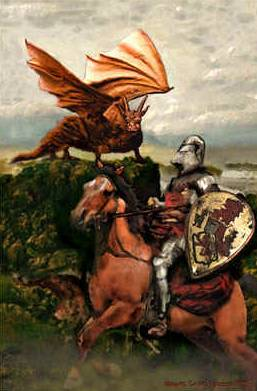 king Uther Pendragon and red dragon